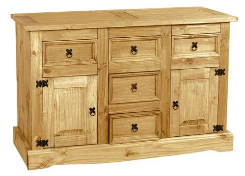 New Corona Pine Buffet 5 Drawer Sideboard HL58