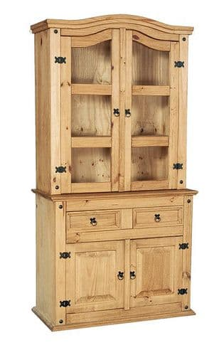 New Corona Pine Buffet And Hutch 2 Door Dresser HL57
