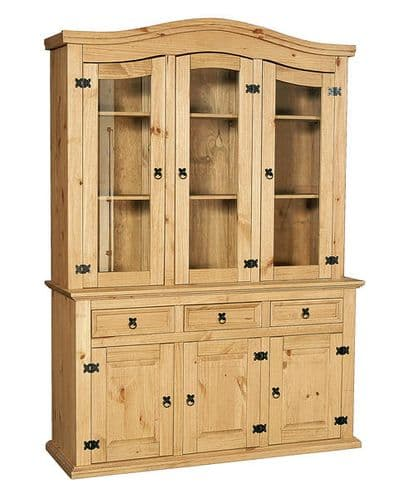New Corona Pine Buffet And Hutch 3 Door Dresser HL58