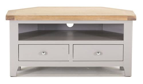 Nocera Grey And Oak Corner TV Unit 18VD260