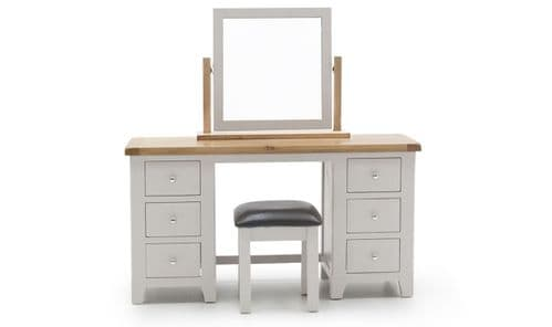Nocera Grey And Oak Dressing Table And Stool Set 18VD273
