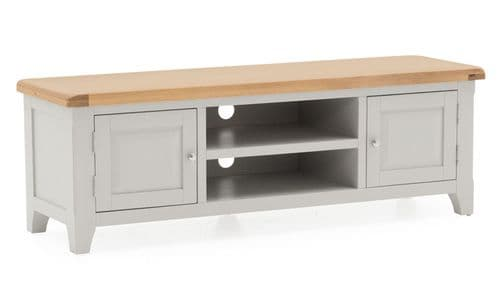 Nocera Grey And Oak Large TV Unit 18VD261
