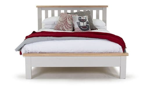 Nocera Grey And Oak Low Footend King Size Bed 18VD267