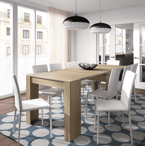 Nordic Grande Junior Giant Extending Oak Effect Dining Table