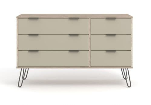 Nova Driftwood 3+3 Wide Chest of Drawers - AGD533