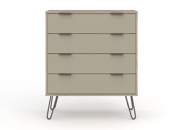 Nova Driftwood  Wide 4 Drawer Chest of Drawers - AGD514