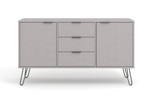 Nova Grey Large Sideboard with 2 Doors 3 drawers - AGG916