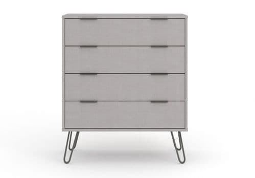 Nova Grey Wide 4 Drawer Chest of Drawers - AGG514