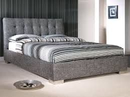 Ophelia Fabric Upholstered 4ft6 Double Bed - LLB
