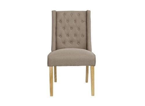 Orleans Beige Fabric Set Of 2 Wing Dining Chairs 17LD462