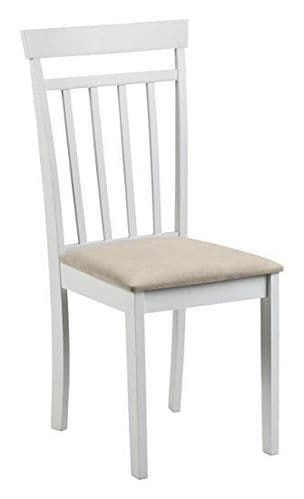 Ourense White Lacquered Finish Dining Chair JB157