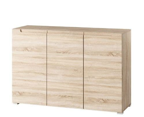 Perth Sonoma Oak Effect 3 Door Sideboard Storage Unit SZLYO02
