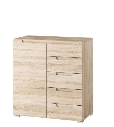 Perth Sonoma Oak Effect Small Compact Sideboard Storage Unit SZLYO01
