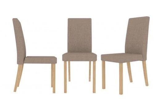 Pont Beige Fabric Set Of 2 Dining Chairs 17LD565