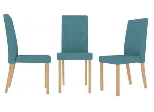 Pont Teal Fabric Set Of 2 Dining Chairs 17LD565