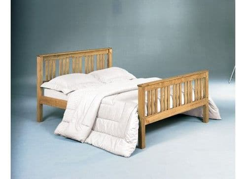 Provins Pine Finish Wooden Double Bed 17LD276