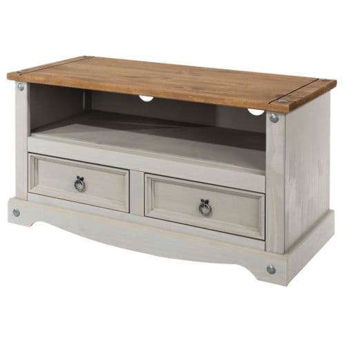 Puebla Grey Waxed Pine Flat Screen TV Unit CRG910