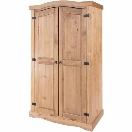Puebla Waxed Pine 2 Door Wardrobe CR520
