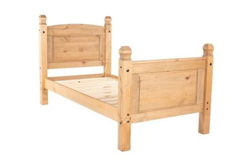 Puebla Waxed Pine 3' High End Bedstead CR300