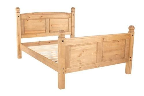 Puebla Waxed Pine 4'6 High End Bedstead CR460