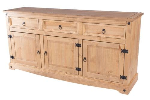 Puebla Waxed Pine Large Sideboard CR917