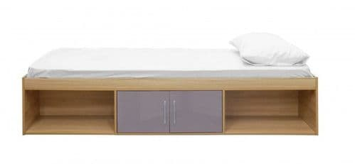 Puteaux Grey And Oak Storage Cabin Bed 19LD317