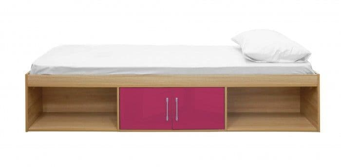 Puteaux Pink And Oak Storage Cabin Bed 19LD318
