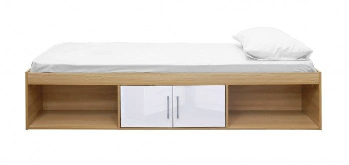 Puteaux White And Oak Storage Cabin Bed 19LD319