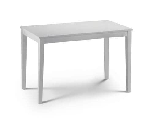 Ragusa Satin White Lacquered Finished Dining Table JB541