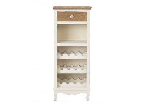 Rennes Soft White And Cream Wine Rack 17LD374