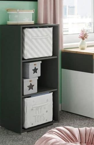 Riva Matt Black Shelving Storage Unit SZRI06