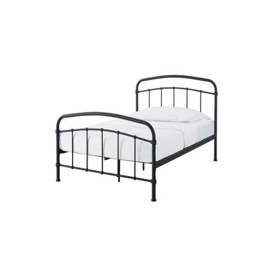 Rocamadour Matt Black Single Bed 19LD274