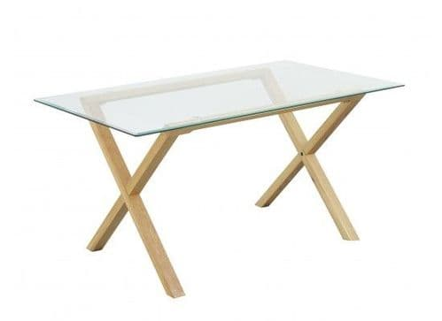 Rocroi Stylish Solid Oak Dining Table 17LD333