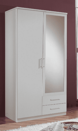 Roma 2 Door 2 Drawer  Wardrobe Almirah White (603209)