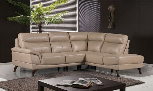Salerno Taupe Leather Right Corner Suite 18VD294