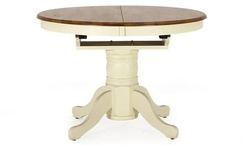 Sarno Natural Timber And Buttermilk Extending Dining Table 18VD296