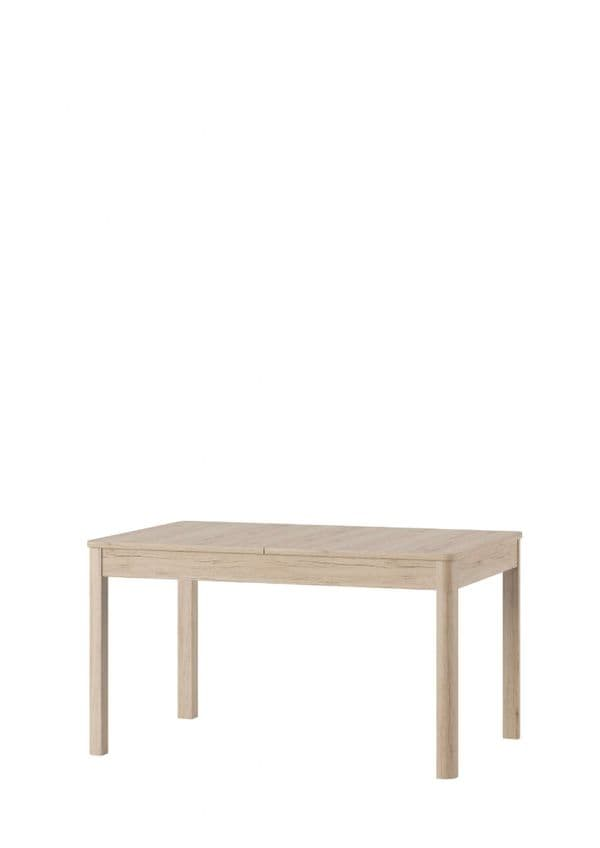 Selby Light Oak Effect Extending Dining Table With 2 Drawers SZDJ42