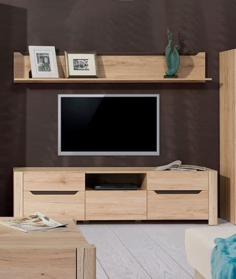 Selby Light Oak Effect Large Wide TV Cabinet SZDJ20