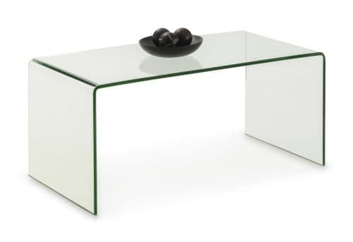 Seville Tempered Bent Glass Coffee Table JB14