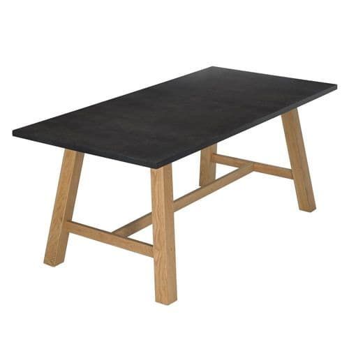 Soissons Grey And Oak Dining Table 19LD634