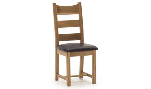 Sorrento Rustic Solid Oak Dining Chair 18VD356