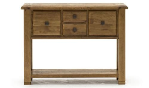Sorrento Rustic Solid Oak Large Console Table 18VD362