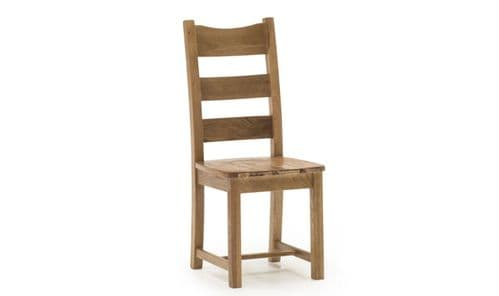 Sorrento Rustic Solid Oak Seat Dining Chair 18VD357