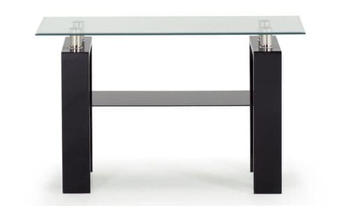 Stabia Black Tempered Glass Console Table 18VD186