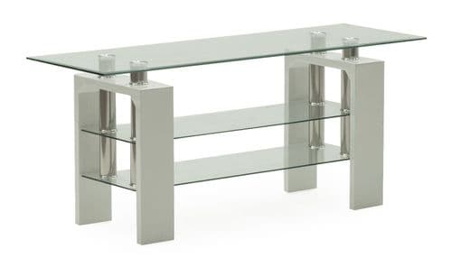 Stabia White Tempered Glass TV Stand 18VD191