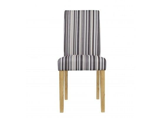 Suresnes Striped Fabric Set Of 2 Dining Chairs 17LD454