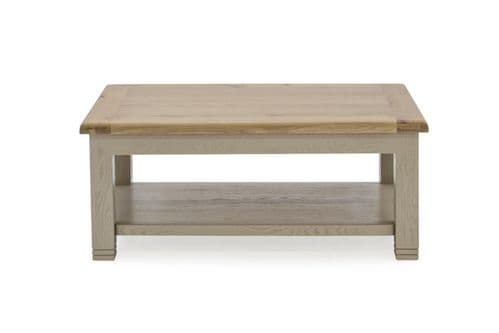 Tarquinia Taupe Semi Solid Oak Coffee Table 218VD588