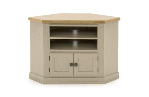 Tarquinia Taupe Semi Solid Oak Corner TV Unit 218VD591
