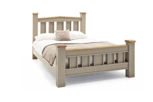 Tarquinia Taupe Semi Solid Oak Double Bed 218VD594