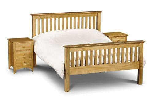 Tarragona Solid Pine King Size Bed High Foot End JB68